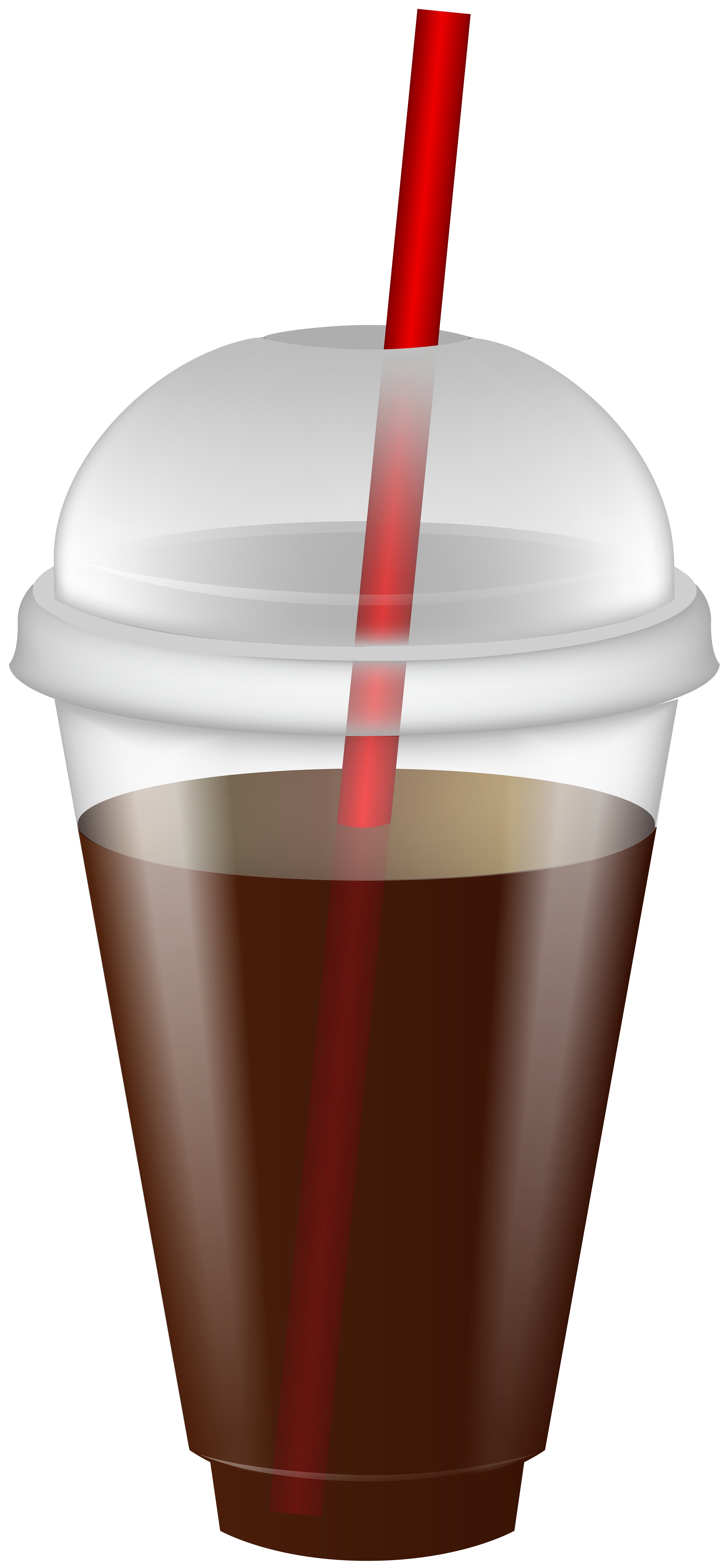 Plastic cup lid and straw clipart png transparent