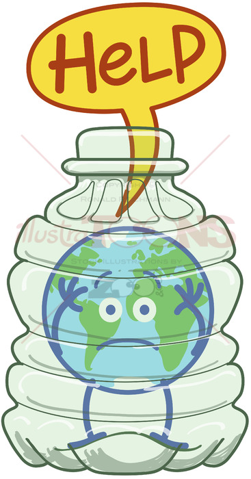 Plastic pollution clipart png transparent stock Planet Earth trapped inside a plastic bottle asking for help png transparent stock