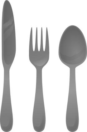 Plastic utensils clipart