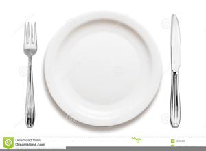 Plate and silverware clipart royalty free Plates And Silverware Clipart   Free Images at Clker.com ... royalty free