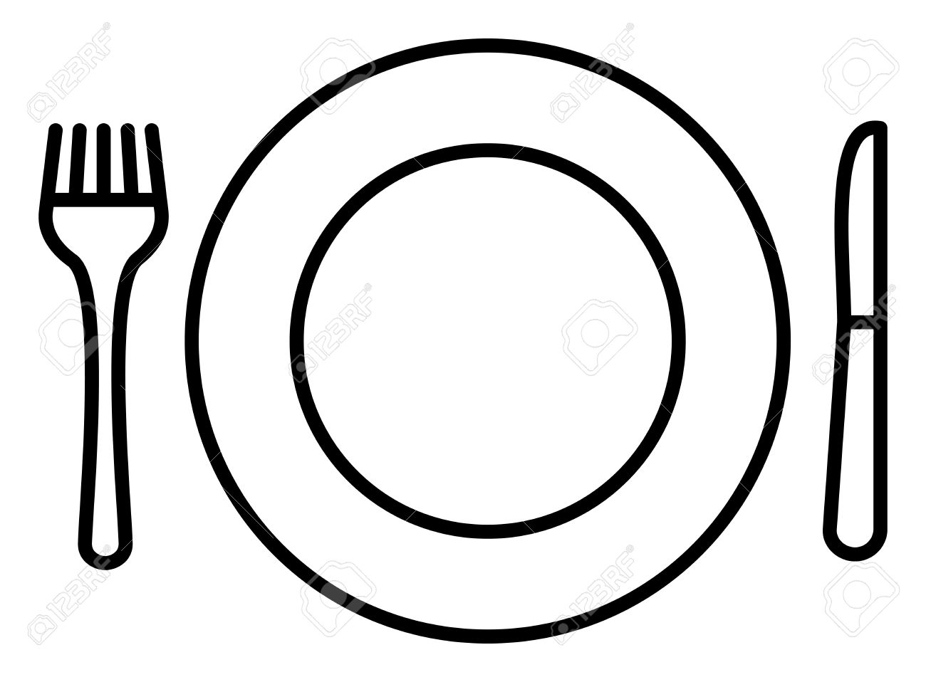 Plate knife and fork clipart graphic stock Plate, Knife and Fork Icon » Clipart Station graphic stock