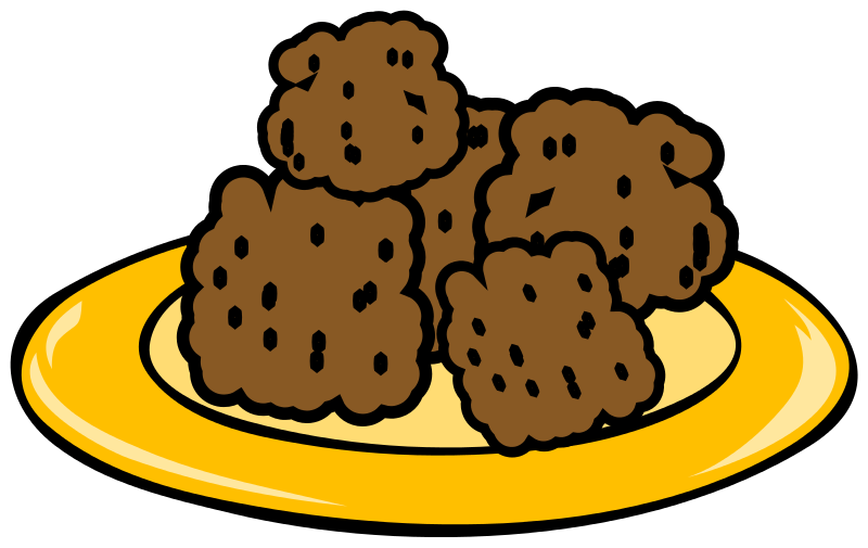 Meatball clipart banner library stock Free Plate Of Cookies Clipart, Download Free Clip Art, Free ... banner library stock