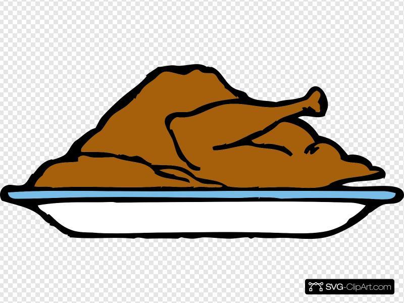 Platter clipart clipart freeuse Turkey Platter Clip art, Icon and SVG - SVG Clipart clipart freeuse