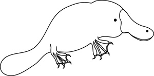 Platypus clipart black and white free Platypus clipart 5 - WikiClipArt free