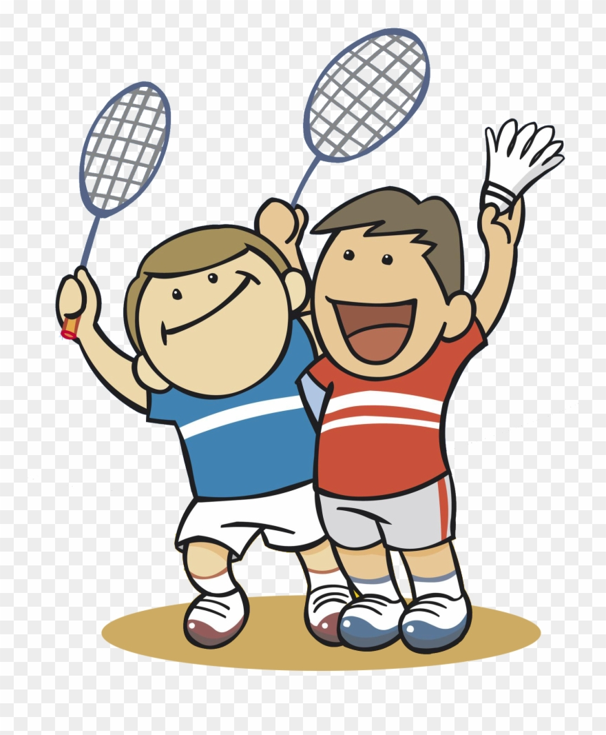 Play badminton clipart vector free Badminton Clipart Badmitton - Cartoon Boy Play Badminton ... vector free