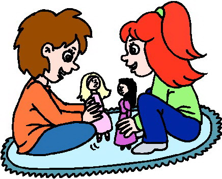 Play with dolls clipart vector library stock Kids playing free clip art children playing clipart images 9 ... vector library stock