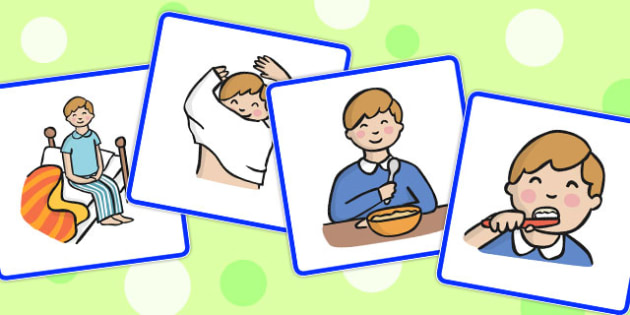 Play clipart sequence jpg royalty free Sequencing Cards Boy Getting Up - getting up, sequencing, cards jpg royalty free