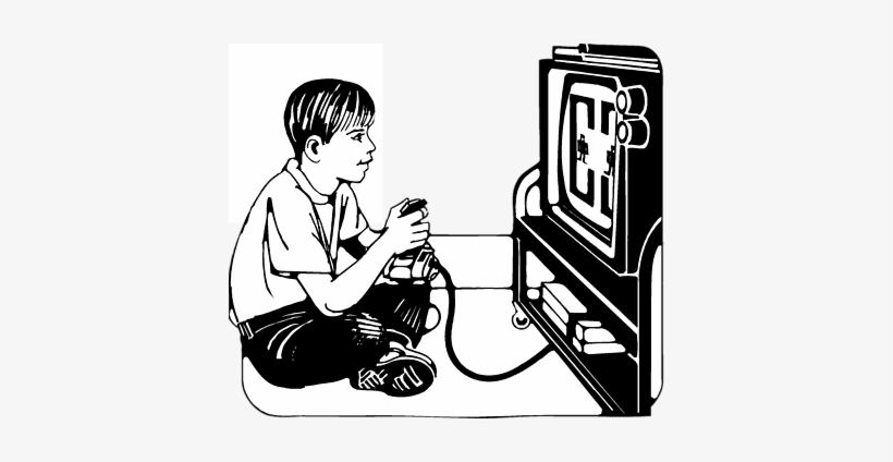 Play computer games clipart black and white graphic library download Playing Video Png Images Kids Clip Art - Playing Computer ... graphic library download