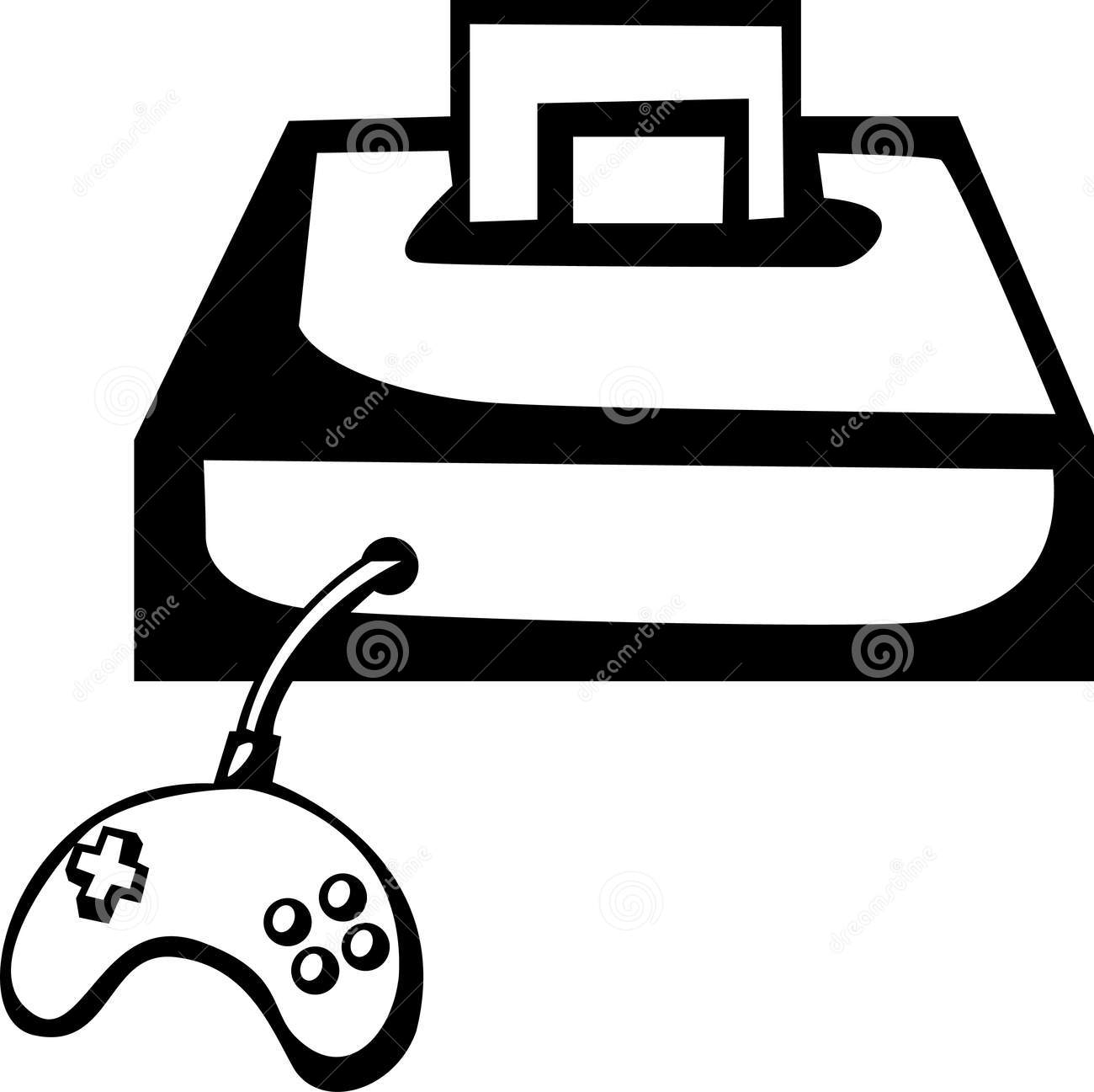 Play computer games clipart black and white picture free stock Video Games Clipart | Free download best Video Games Clipart ... picture free stock