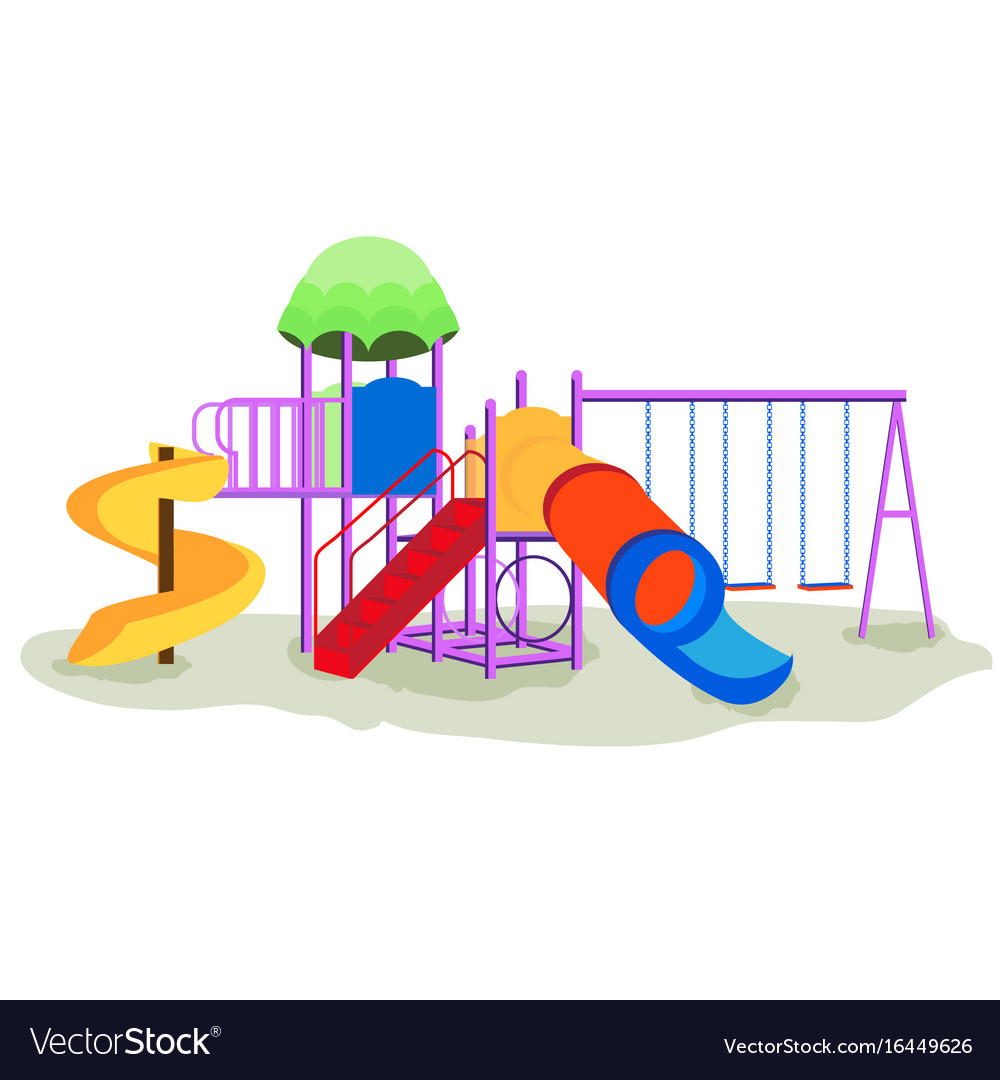 Play equipment clipart clipart library download Kids playground equipment with swings clipart library download