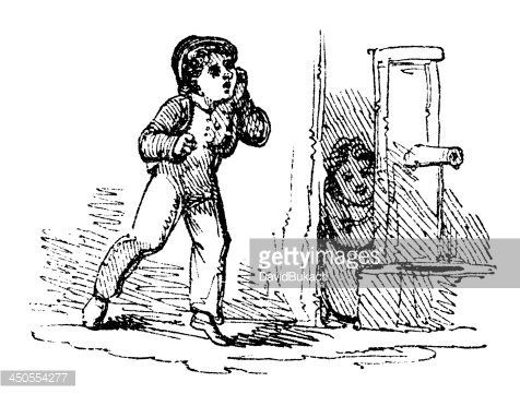 Play hide and seek clipart black and white picture transparent stock 19th Century Engraving of Children Playing Hide and Seek ... picture transparent stock