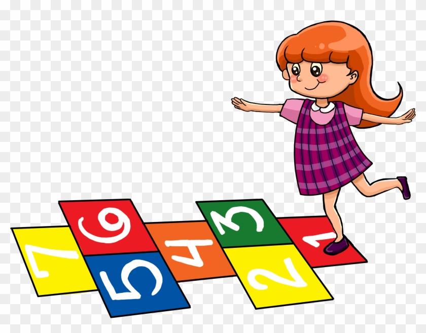 Play hopscotch clipart jpg transparent download Little Girl Playing Hopscotch @ Tictacteach - Girl Playing ... jpg transparent download