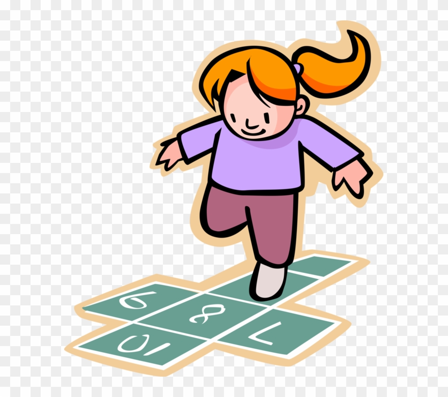 Play hopscotch clipart jpg royalty free Clip Art Freeuse Download Girl Plays Hopscotch At Recess ... jpg royalty free