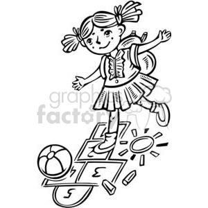 Play hopscotch clipart jpg transparent stock girl playing hopscotch clipart. Royalty-free clipart # 381527 jpg transparent stock