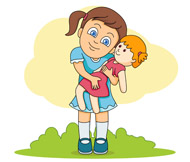 Play with dolls clipart clip art royalty free Free Girls Playing Cliparts, Download Free Clip Art, Free ... clip art royalty free