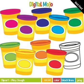 Playdough clipart graphic free stock Play Dough / Play-Doh Clipart | Clipart for Teachers in 2019 ... graphic free stock