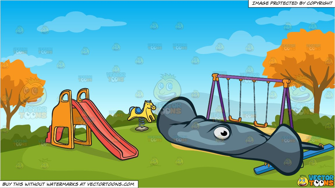 Playground clipart background jpg free stock A Wide Stingray and Kids Playground On An Autumn Day Background jpg free stock
