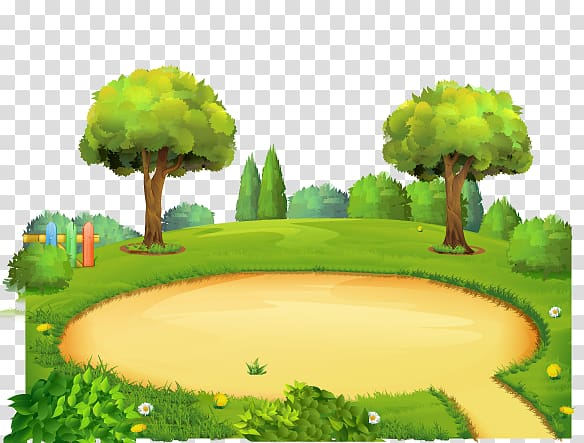 Playground clipart background vector freeuse download Park Playground Cartoon, Amusement park background, open ... vector freeuse download