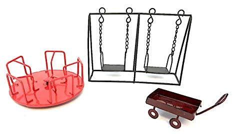 Playground clipart slide swing merry go round site stockphoto picture library stock Amazon.com : Assembled by PaBu GuLi Miniature Playground ... picture library stock