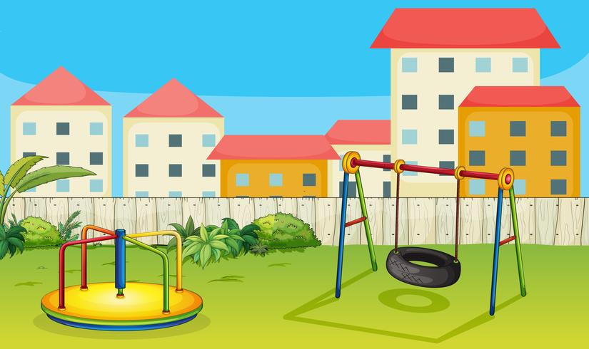 Playground clipart slide swing merry go round site stockphoto banner library library A merry-go-round and a swing - Download Free Vector Art ... banner library library