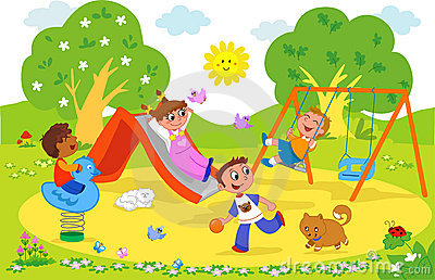 Playground images clipart vector library stock Kids playing on playground clipart » Clipart Station vector library stock
