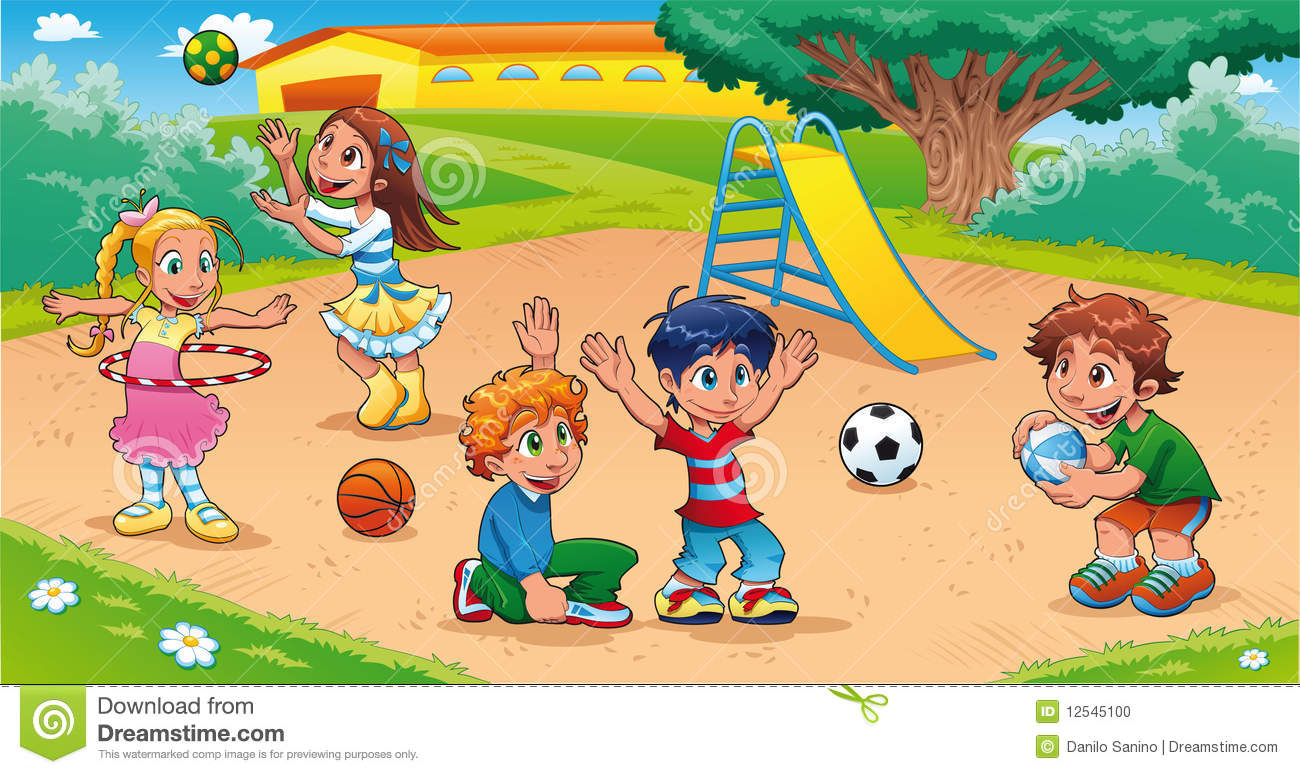 Playground images clipart vector black and white download Children playing on playground clipart 6 » Clipart Station vector black and white download