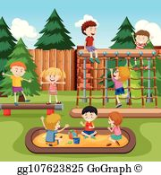 Playground images clipart image free Kids Playground Clip Art - Royalty Free - GoGraph image free