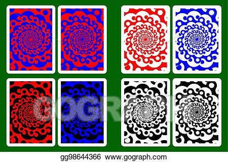 Playing card back clipart royalty free download EPS Illustration - Playing card back designs. Vector Clipart ... royalty free download