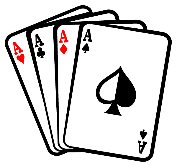 Playing card clipart free png freeuse stock Aces Poker Playing Cards Vector Free | Vinyl ideas | Card ... png freeuse stock