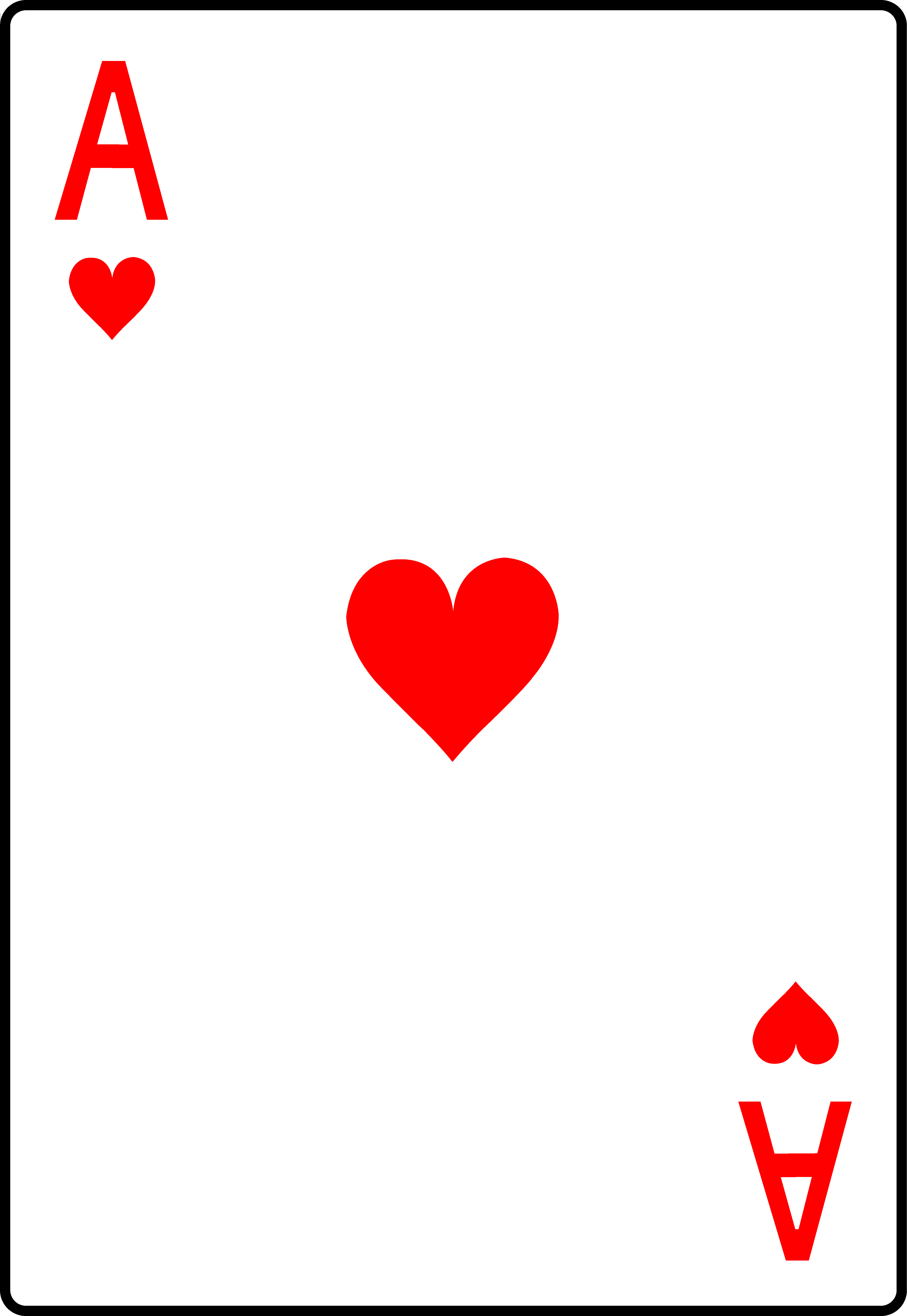 Playing card clipart free jpg freeuse Ace of Hearts Playing Card - Free Clip Art jpg freeuse