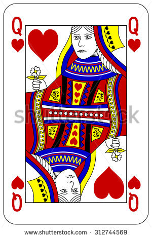 Playing card queen of hearts clipart cute graphic free stock Queen Of Hearts Stock Images, Royalty-Free Images & Vectors ... graphic free stock