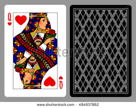 Playing card queen of hearts clipart cute clip art library Queen Of Hearts Stock Images, Royalty-Free Images & Vectors ... clip art library