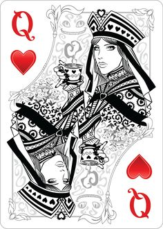 Playing card queen of hearts clipart cute picture royalty free vintage queen of hearts alice in wonderland - Google Search ... picture royalty free