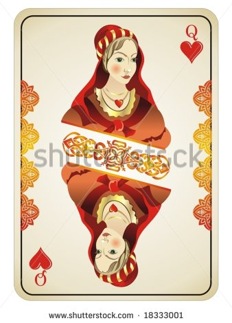 Playing card queen of hearts clipart cute clipart free library Queen Of Hearts Stock Images, Royalty-Free Images & Vectors ... clipart free library