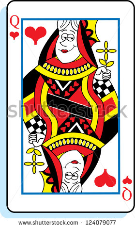 Playing card queen of hearts clipart cute graphic library library Queen Of Hearts Stock Images, Royalty-Free Images & Vectors ... graphic library library