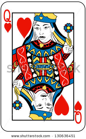 Playing card queen of hearts clipart cute free download Queen Of Hearts Stock Images, Royalty-Free Images & Vectors ... free download