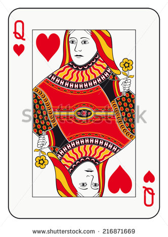 Playing card queen of hearts clipart cute vector royalty free library Queen Of Hearts Stock Images, Royalty-Free Images & Vectors ... vector royalty free library