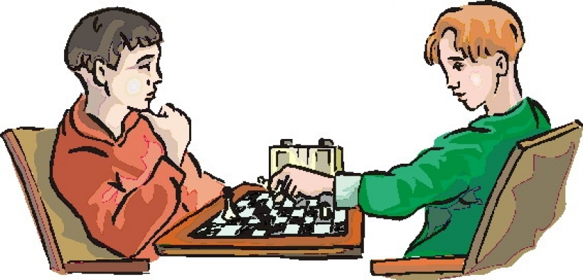 Playing chess clipart