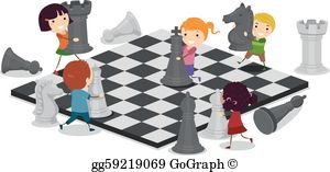 Playing chess clipart clip Playing Chess Clip Art - Royalty Free - GoGraph clip