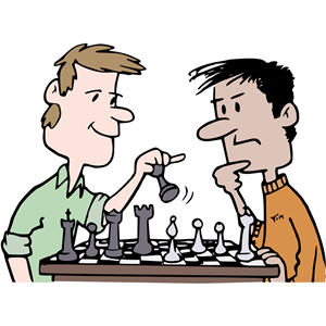 Playing chess clipart clipart black and white Chess Players - Colour clipart, cliparts of Chess Players ... clipart black and white