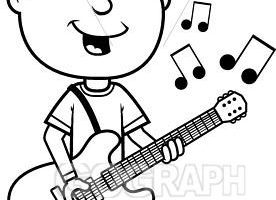 Playing guitar clipart black and white picture royalty free Playing guitar clipart black and white 3 » Clipart Portal picture royalty free