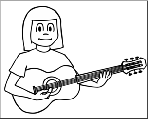 Playing guitar clipart black and white clipart Guitar Clipart Black And White (79+ images in Collection) Page 1 clipart