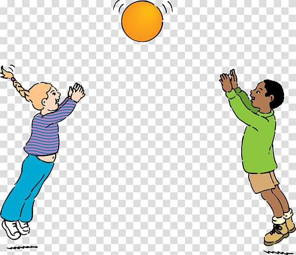 Playing in physical education clipart high five vector stock Throwing Catch Ball Physical education , People Playing ... vector stock