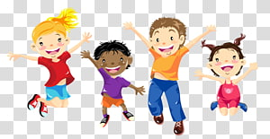 Playing in physical education clipart high five free library Woman and five children illustration, Teacher Physical ... free library