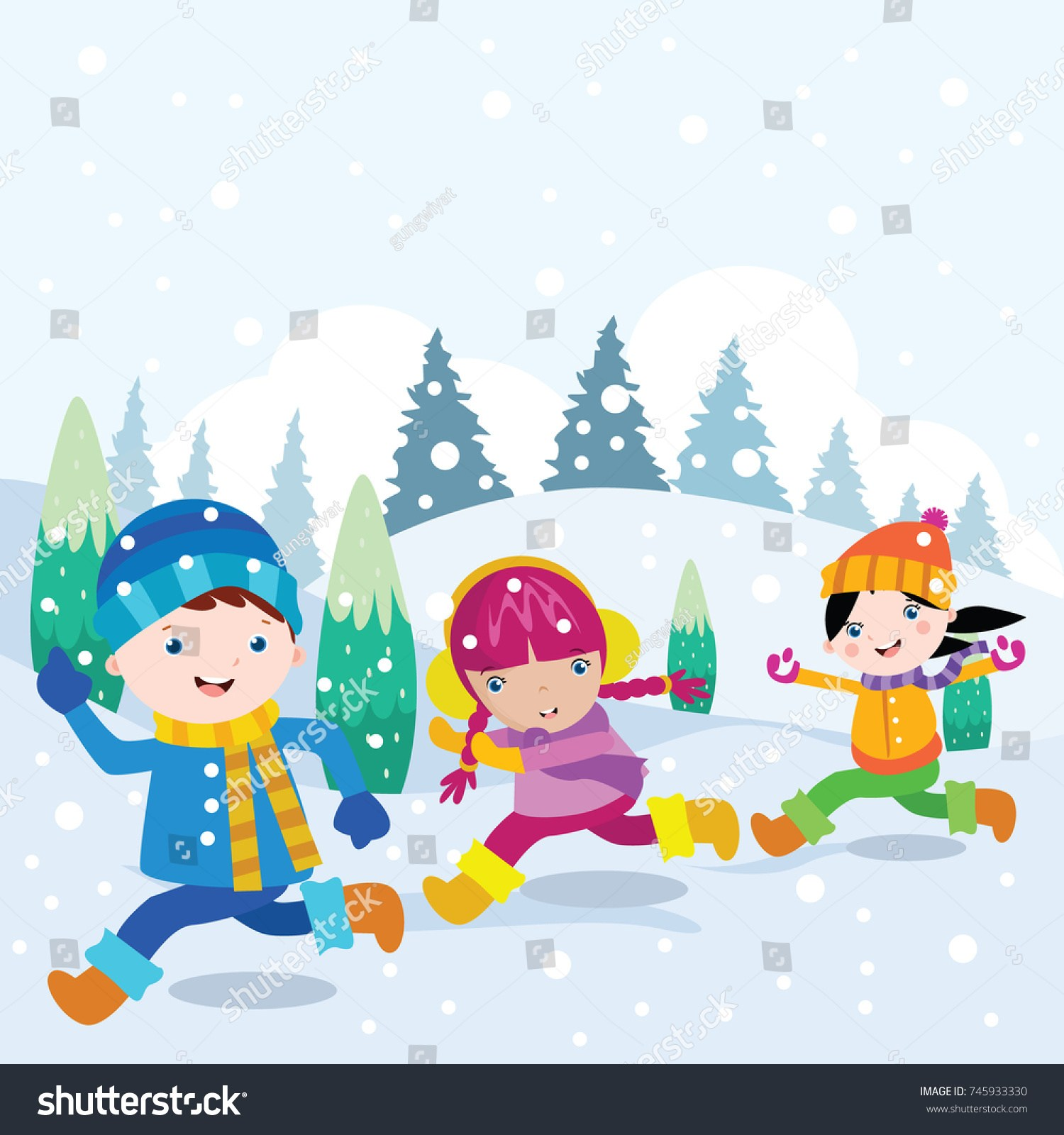 Playing in snow clipart clipart freeuse stock Playing in snow clipart 5 » Clipart Portal clipart freeuse stock