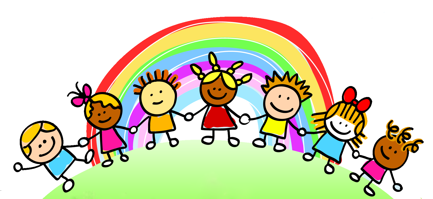 Sun and rainbow with children playing clipart clipart royalty free Sun Cloud Rainbow Clipart | jokingart.com Rainbow Clipart clipart royalty free