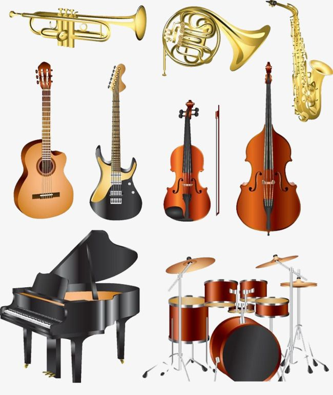Playing multiple instruments at the same time clipart clipart freeuse library Western Musical Instrument Collection, Guitar, Piano, Drums ... clipart freeuse library