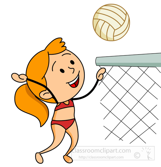 Playing volleyball clipart jpg free library Volleyball Clipart Girl-in-bathing-suit-playing-beach ... jpg free library