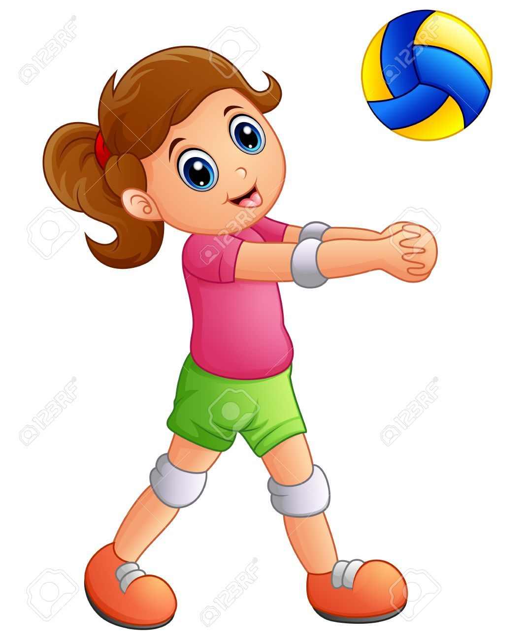 Playing volleyball clipart clip art Girl playing volleyball clipart 3 » Clipart Portal clip art