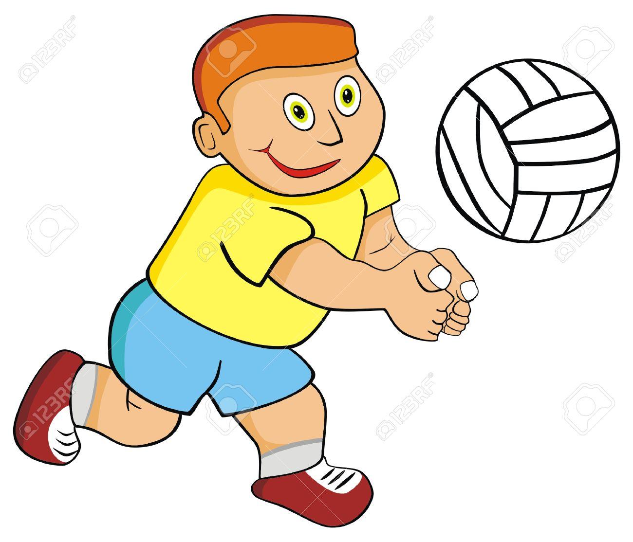 Playing volleyball clipart jpg transparent stock Kids playing volleyball clipart » Clipart Station jpg transparent stock